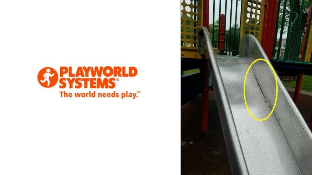 Playworld Stainless Steel Slide Recall Due to Finger Amputations to Children