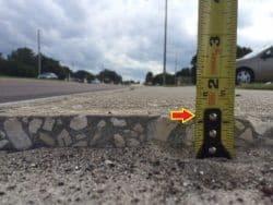 Improper Change in Level Sidewalk